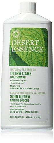 Desert Essence Ultra Care Mouthwash, Mega Mint, 16 Ounce