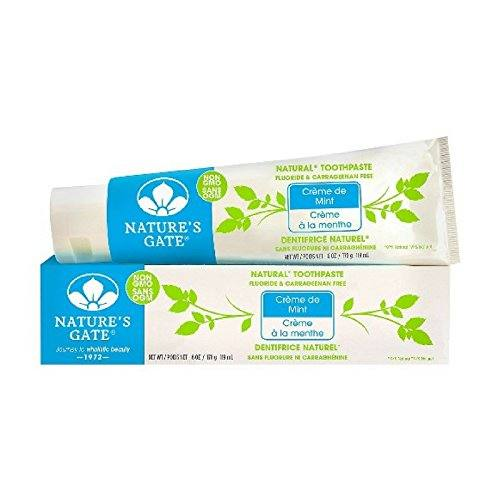 Nature's Gate Natural Toothpaste, Creme de Mint 6 oz ( Packs of 2)