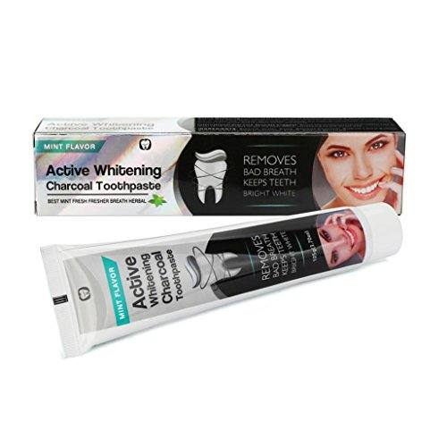 Natural Organic Activated Charcoal Bamboo Teeth Whitening Toothpaste