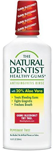 The Natural Dentist Healthy Gums  Antigingivitis Mouthwash to Prevent and Treat Bleeding Gums and Fight the Gum Disease Gingivitis – Peppermint Twist flavor, 16.9 oz.