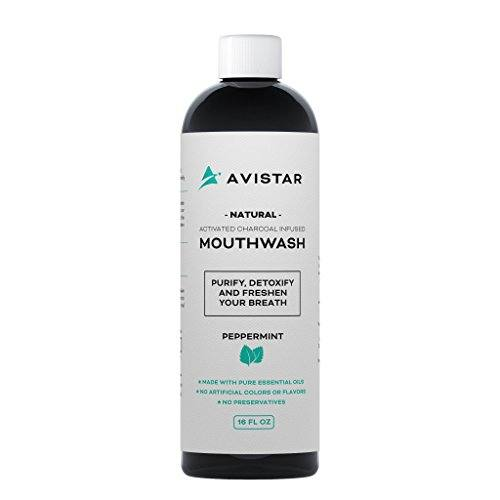 Avistar Natural Activated Charcoal Mouthwash
