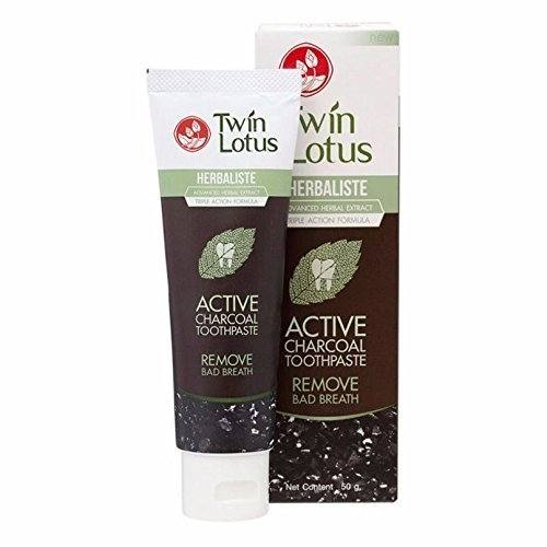 Twin Lotus Herbaliste Active Charcoal Toothpaste Tube 50 grams