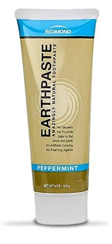 Redmond Earthpaste – Natural Non-Fluoride Toothpaste- Peppermint (3 pack- 3 x 4 Ounce Tube)