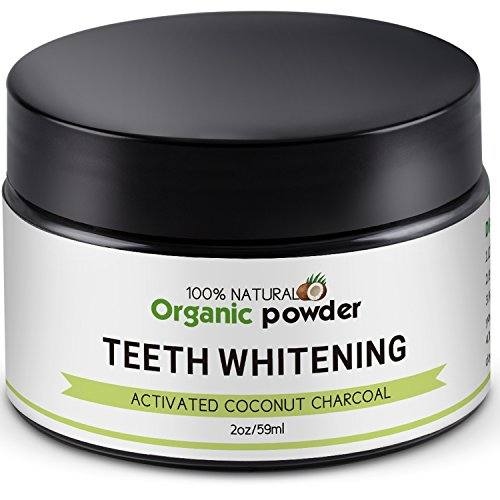Activated Charcoal Teeth Whitener Safe Teeth Whitening Powder,100% Natural Coconut Carbon Powder—Whiten Teeth Stains from Coffee,Cigarette,Wine with No Harm—Fresh Mint Flavor