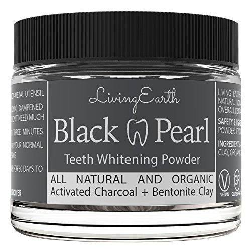 Black Pearl Activated Charcoal Teeth Whitening – Organic & All Natural – Remineralizing Tooth Powder – Anti-Bacterial – Made In USA – Glass Jar