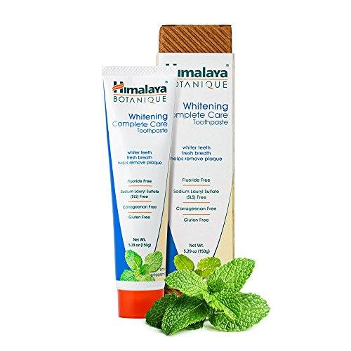 Himalaya Whitening Toothpaste – Simply Peppermint 5.29 oz/150 gm (1 Pack), Natural, Fluoride-Free & SLS Free