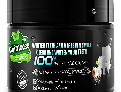 Teeth Whitening Powder, Chimocee Activated Coconut Charcoal Natural Teeth Powder for Stronger Healthy Teeth, A Whiter Smile – Safe to Use