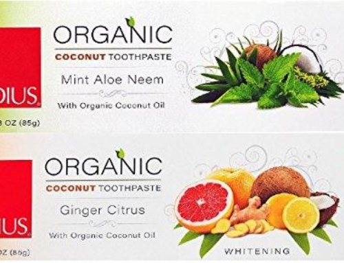 RADIUS Organic Toothpaste 3 oz 2 Variety Pack Ginger Citrus and Mint Aloe Neem