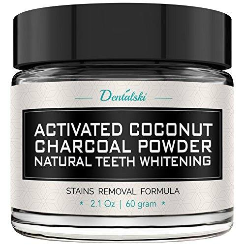 Activated Charcoal Teeth Whitening Powder – Made in USA with Organic Coconut Activated Charcoal for Safe Effective Teeth Whitening, 100% Natural, Better Than Strips, Kit, Gel & Whitening Toothpaste
