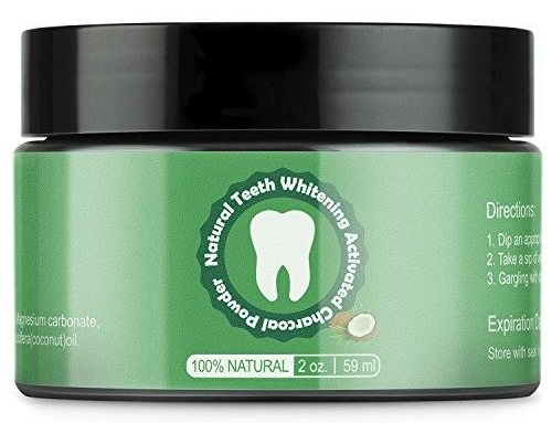 Teeth Whitening Activated Coconut Charcoal Powder Natural Charcoal Teeth Whitening Kit 2 Oz-Remove Stains,Whiten Teeth, Enhance Gum Health, Refresh Breath