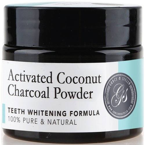 Activated Coconut Charcoal Teeth Whitening Powder | 100% Organic & Natural | Safe & Effective Whitener for Normal & Sensitive Teeth – Get Wow Results with Active Coconut Charcoal