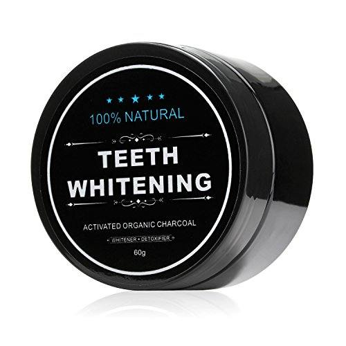 All Natural Teeth Whitening Powder with Coconut Activated Charcoal – Organic Safe Effective Tooth Whitener Solution for Stronger Healthy Whiter Teeth.