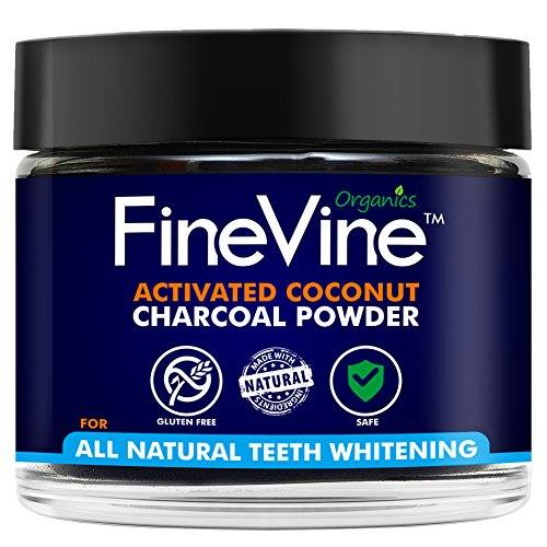 All Natural Teeth Whitening Powder – Made in USA with Coconut Activated Charcoal – Safe Effective Tooth Whitener Solution. Better than Strips, Kit, Gel & Whitening Toothpaste. (Powder)