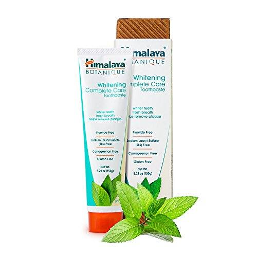 Himalaya Whitening Toothpaste – Simply Mint 5.29 oz/150 gm (1 Pack), Natural, Flouride-Free & SLS-Free
